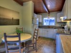 Cute brand new kitchen and dining area has everything you need