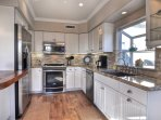 Brand new kitchen is a delight to cook and visit in!