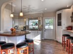 Enjoy casual dining in the kitchen.