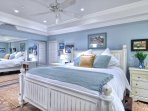 Wonderful King bed is so relaxing and restful.