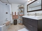 Unit A: private master bathroom