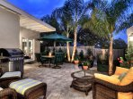 Outdoor grill and comfortable seating!