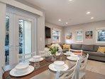This modern condo features a convenient open floor plan.