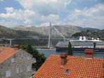 Dubrovnik bridge - view from top of the house