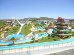 Famous aqua park 10' away from car