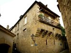 The Salamandre suite has one of the best balconies in Sarlat.