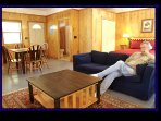 Cozy Guest House sleeps up to 4  for large group or want to spread out. 100 yds from cabin.