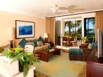 Ocean view living room with all new top quality furniture!
