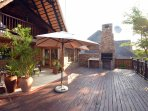 Large deck with Braai