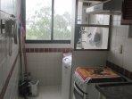 service area with washing machine