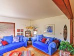 You and your guests will love the ample seating in the cozy living area.