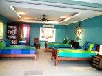 Turquoise bedroom 2- Pool level - Sleeps 4