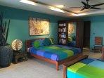 Turquoise bedroom 2 - Pool level - Sleeps 4