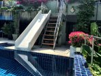Slide into heaven! One of the villas unique features, not to be found anywhere else on the island!