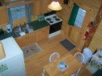 Kitchen -Log Cabin in Rum Ridge