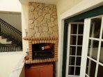 Balcony with BBQ in back