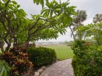 path to the pool and gulf