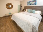 Comfortable new king size bed in our 2 bedroom suite at Costa Bela!