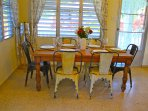 Indoor dining table, seats 6 people
