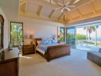 Master Bedroom with King Bed, Lanai Access and Ocean Views!