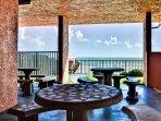 Beachfront patio tables