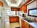 Ample kitchen space with lots of cabinets