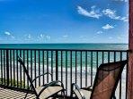 Beautiful beach views from wrap around balcony