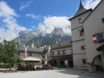 Hohenwerfen Castle which is 20 minutes from our apartment house.