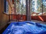 Back deck outdoor spa