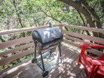 Back Deck with Charcoal BBQ