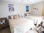 Guest Bedroom 2--TWO QUEEN beds, TV & DVD player