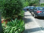 Street parking (free) in front of property