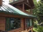 From deck toward master bedroom deck and bedroom #3 bay window