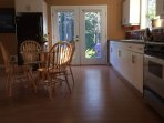 fully and generously equipped kitchen, french doors to patio