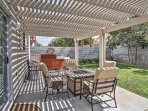 Catch some shade on the inviting patio.