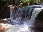 Nearby Diana's Baths waterfalls.
