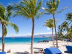 The Mauna Lani Beach Club. You will have a key card to the private gated entrance.
