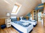 Blue room (twin+1 single) 3 people