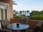 Lanai with Ocean and Sunset View.