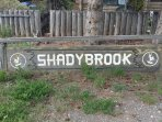 The original sign. The original owner of this property called this area 'shadybrook' since the 60's