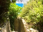 The secret path to private beach.