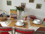 Dining+kitchen well equipped for a lovely stay!