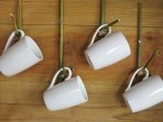 More bamboo hooks for the coffee cups
