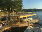 Large Docking complex with multiple dining and sitting areas. Docking for 28 foot boat, Kayaks