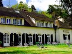 The Auberge de Lac de Mondon, overlooking the nearby lake. For a lovely meal in a beautiful setting.