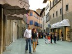 The corso great shops, bars restaurants, 5 mins walk