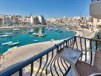 view from Balcony overlooking Spinola Bay