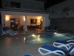 Evening Swim in the Illuminated Pool (8 metres x 4 metres)