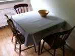 The dining table, simple and effective.
