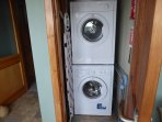 Washer and vented dryer.  Rotary dryer and indoor drying rack also available